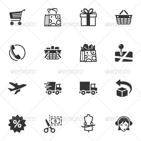 Shopping and E-commerce Icons - Web Icons