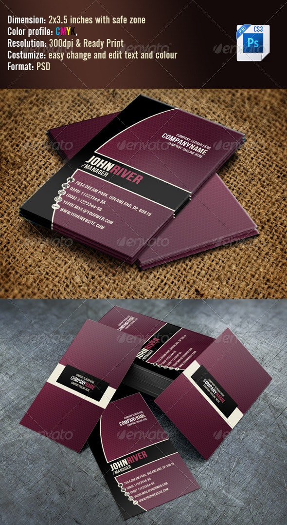 Simple Violet Business Card - Creative Business Cards
