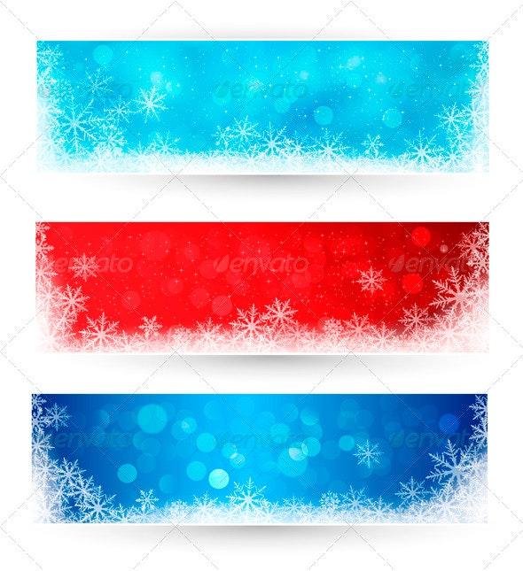 Set of winter christmas banners - Christmas Seasons/Holidays