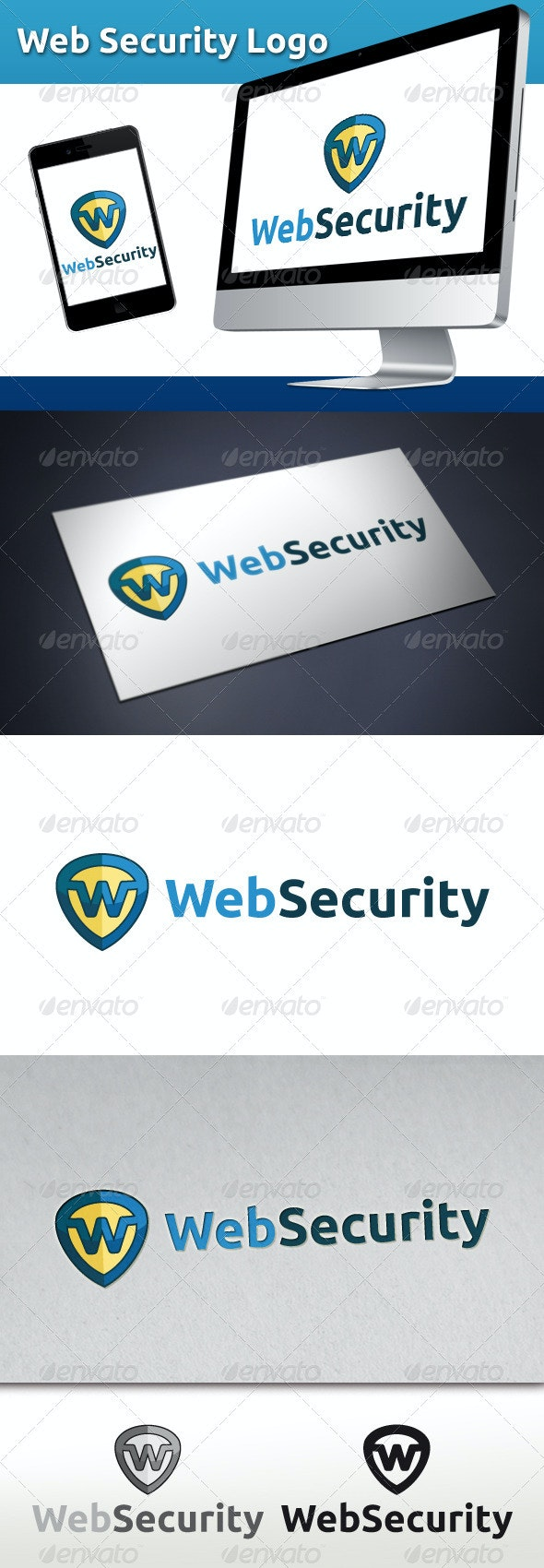 Web Security Logo - Letters Logo Templates