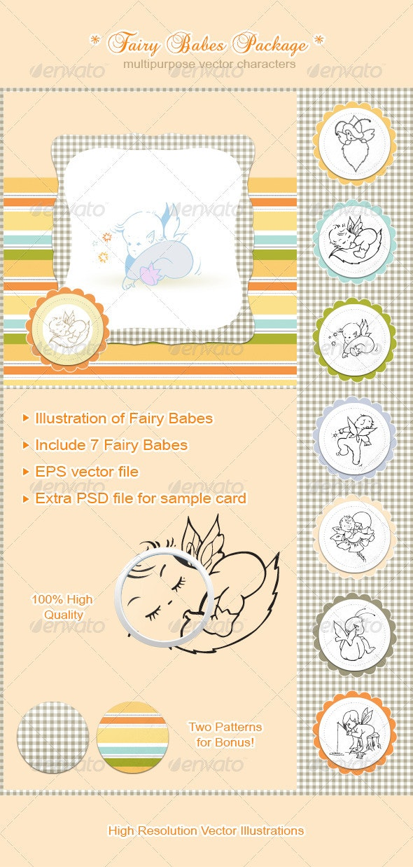 Fairy Babes Package - Characters Vectors