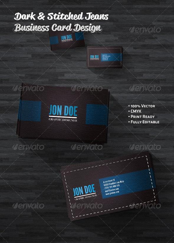 Dark Jeans Business Card - Grunge Business Cards