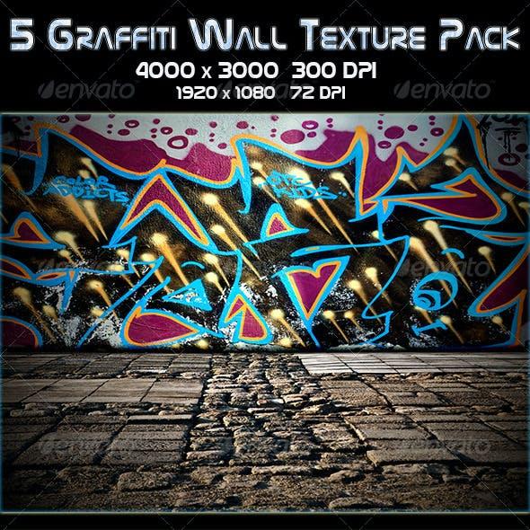 5 Graffiti Wall Texture Pack