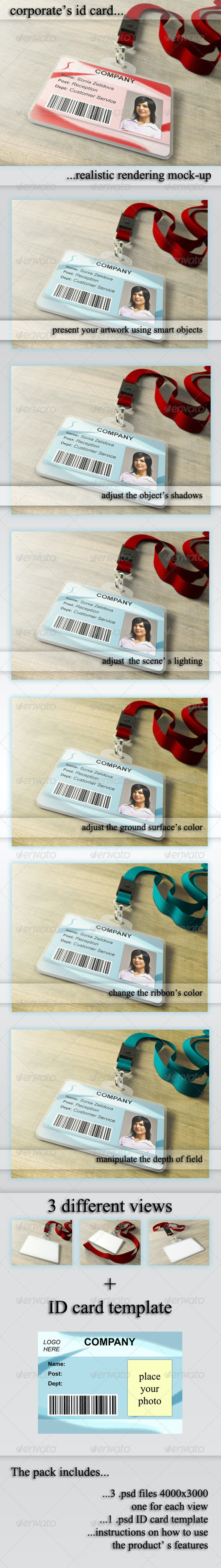 ID Card Holder Mockup - Miscellaneous Print