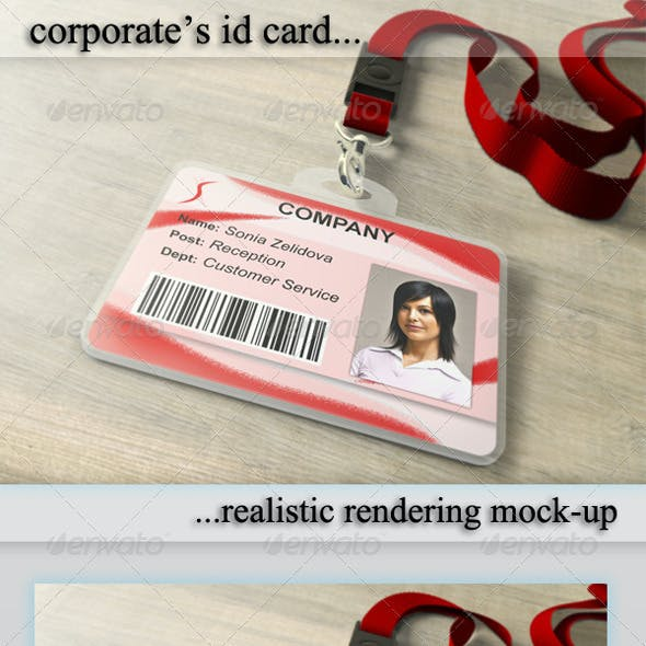 ID Card Holder Mockup