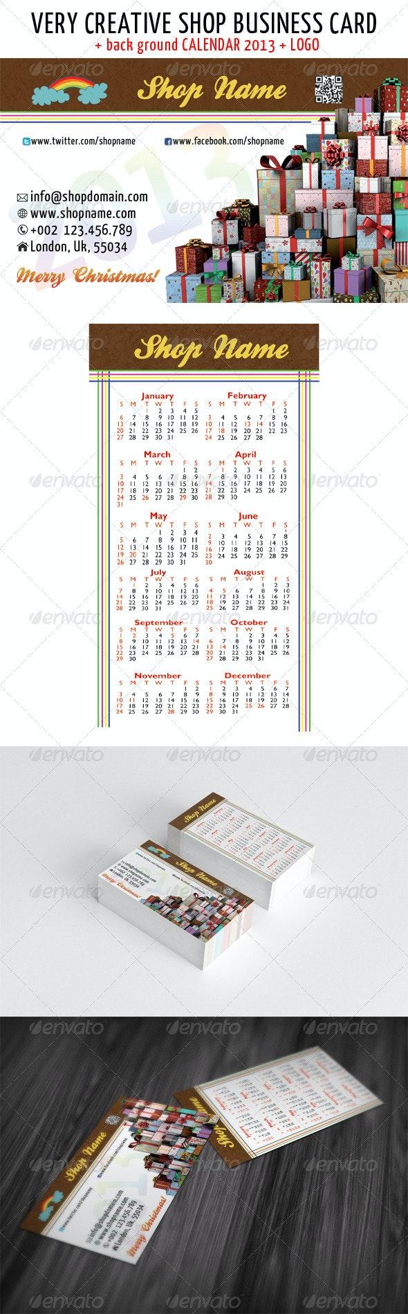 Christmas shop business card - Creative Business Cards