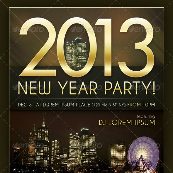 Skyline - New Year Party Flyer