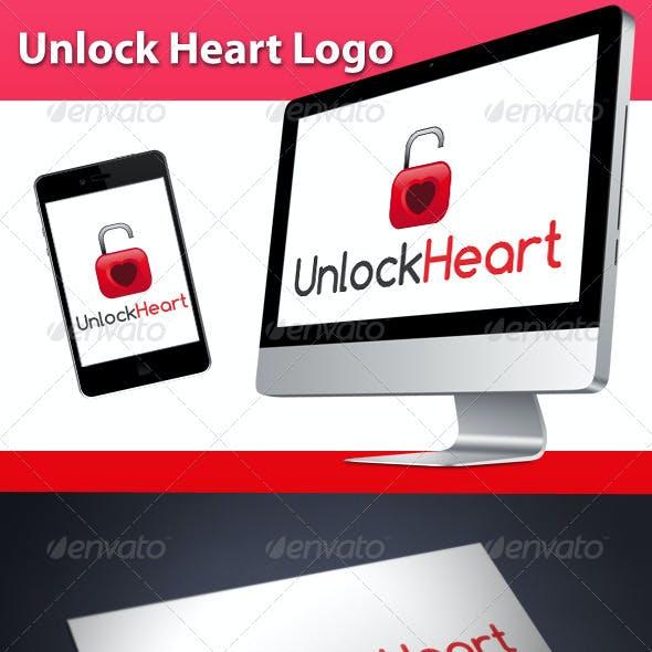Unlock Love Heart Logo