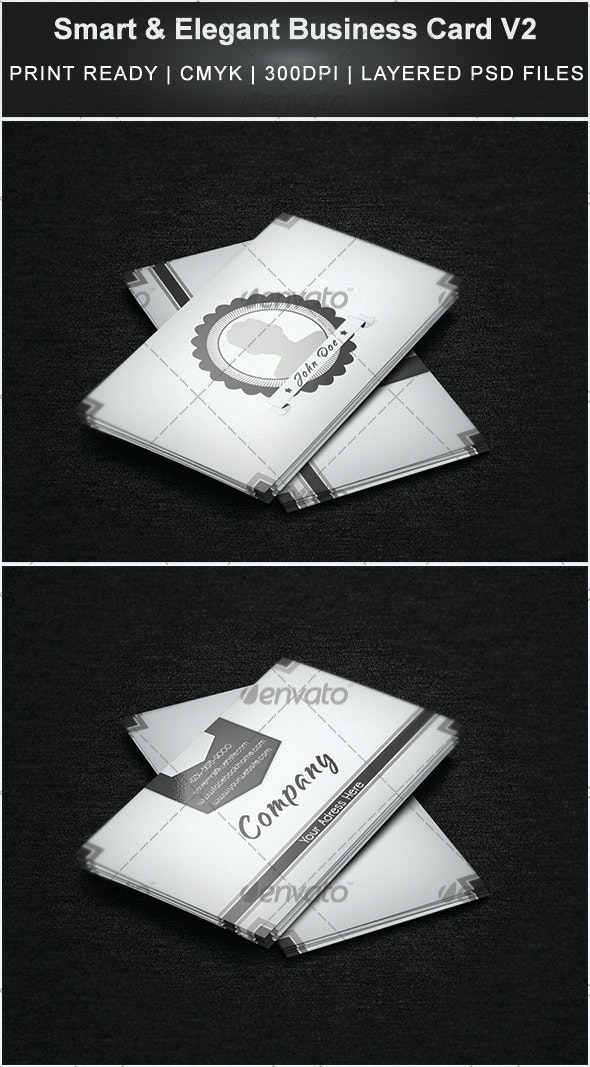 Smart & Elegant Business Card V2 - Creative Business Cards