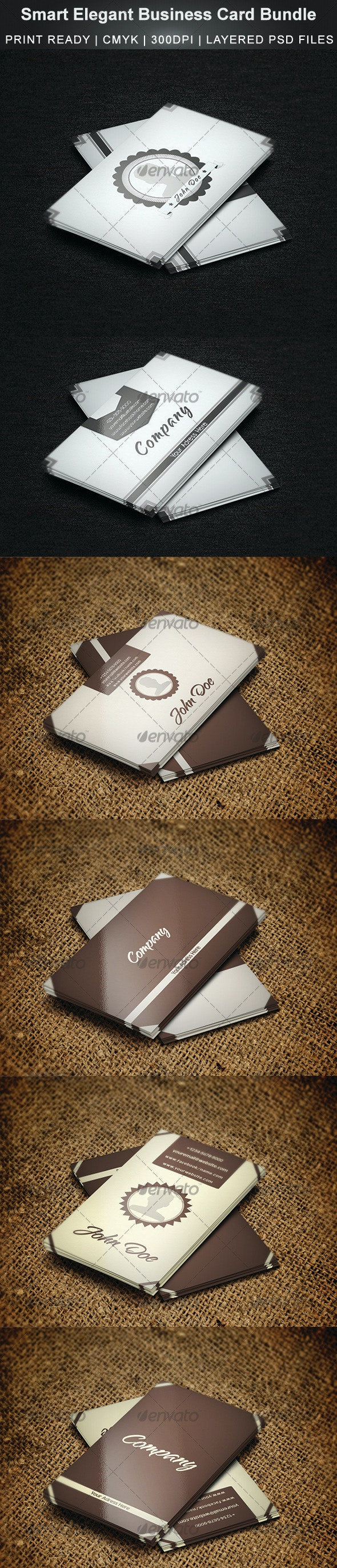 Smart & Elegant Business Card Bundle - Creative Business Cards