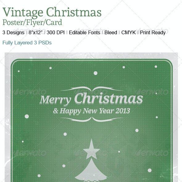 Vintage Chrstmas Poster/Cards Backgrounds