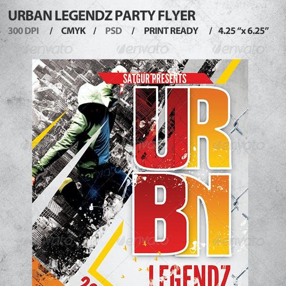 Urban Legendz Party Flyer