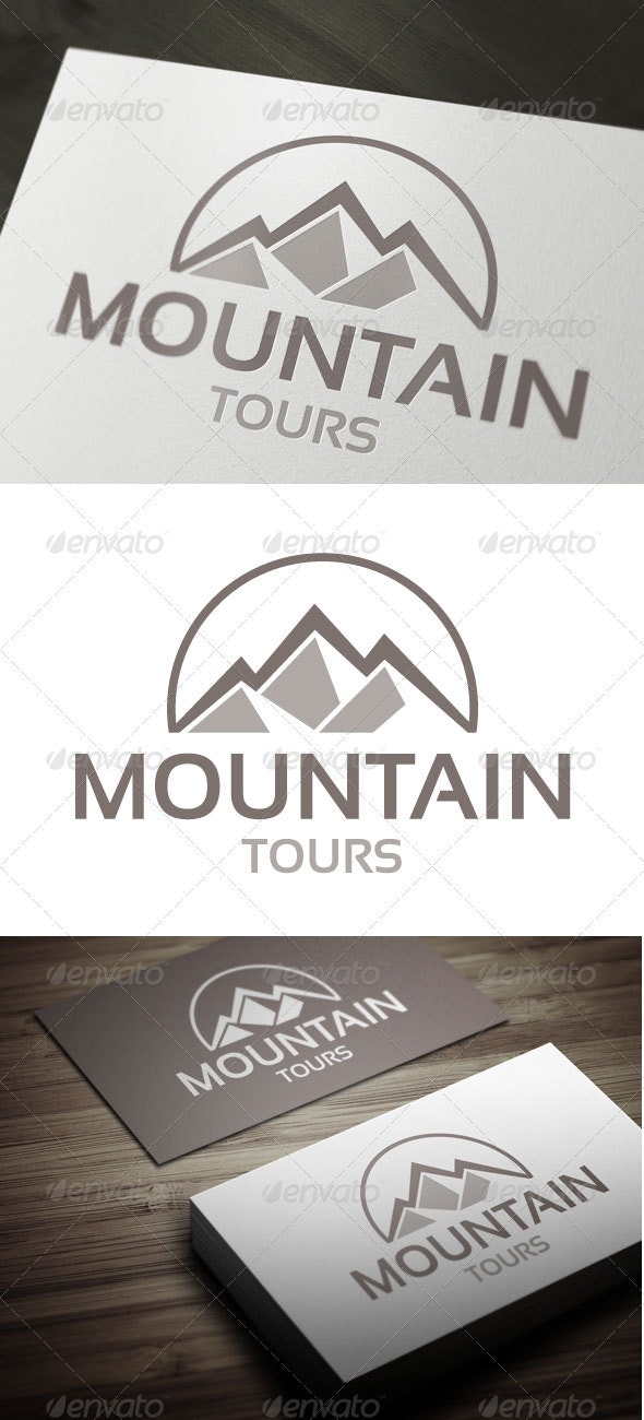 Mountain Tours - Nature Logo Templates