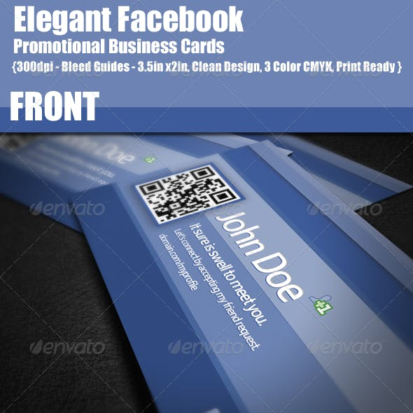 Facebook Promotional Business Cards