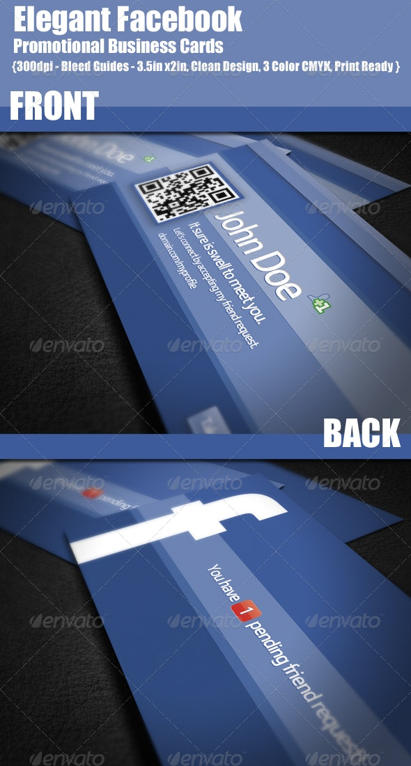 Facebook Promotional Business Cards - Creative Business Cards