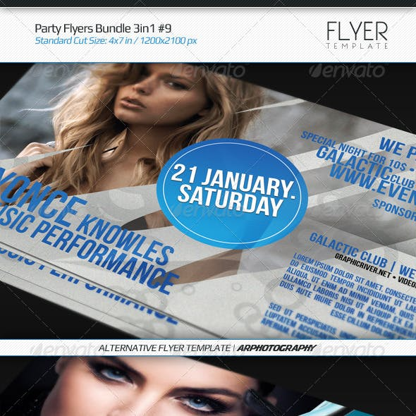 Party Flyers Bundle 3in1 #9