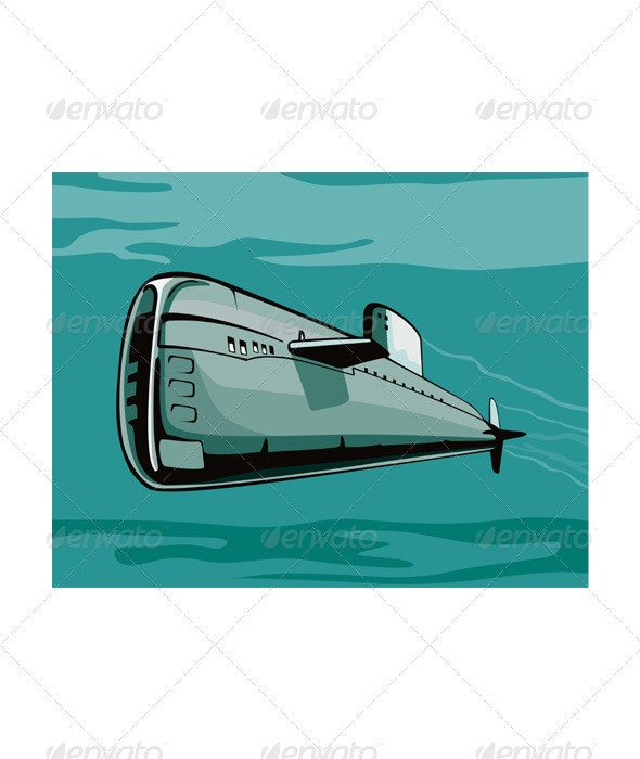 Submarine Boat Retro - Miscellaneous Vectors