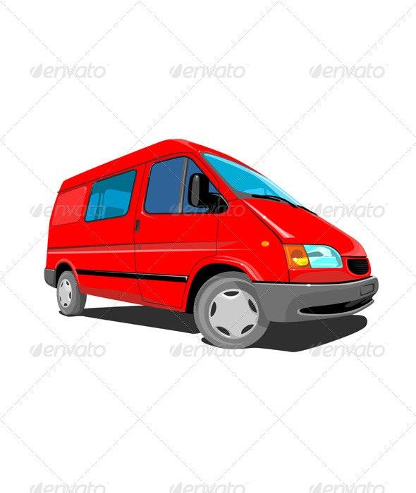 Closed Delivery Van Retro - Travel Conceptual