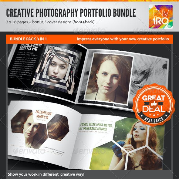 3in1 Creative Photography Portfolio A4 Brochures