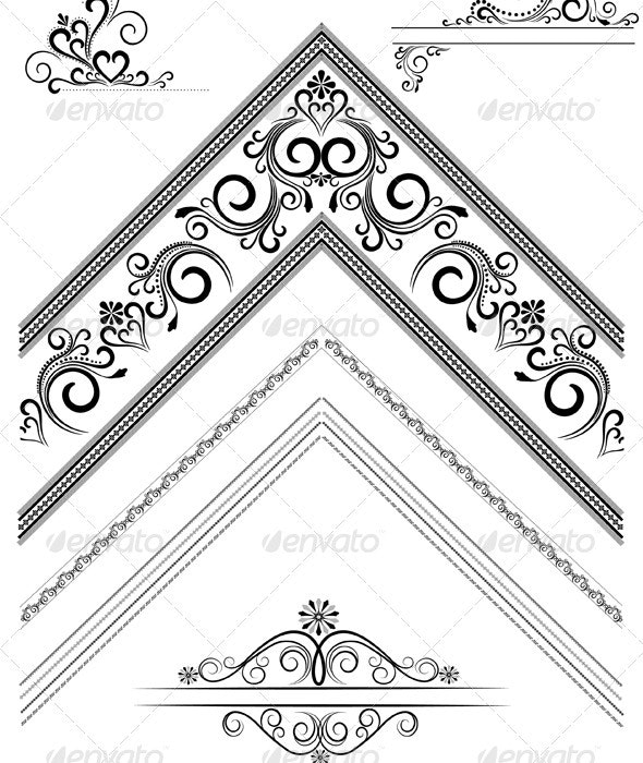 Corner with an Ornament for the Page - Borders Decorative