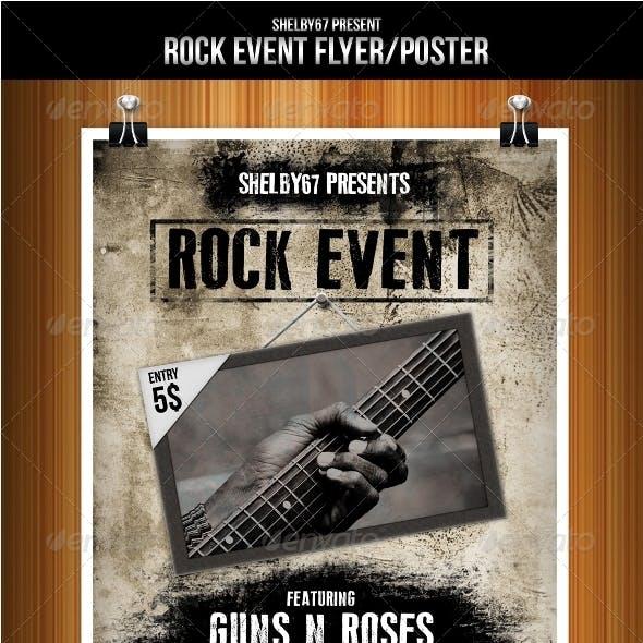 Rock Event Flyer/Poster