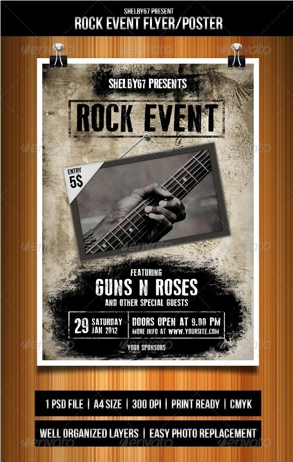Rock Event Flyer/Poster - Events Flyers