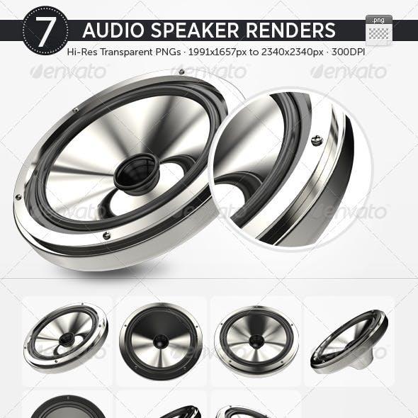 7 Audio Speaker Renders