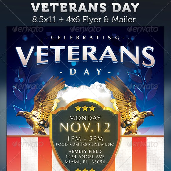 Veterans Day Flyer Template