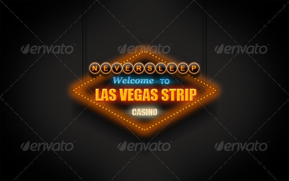 Las Vegas Neon Sign - Objects Illustrations
