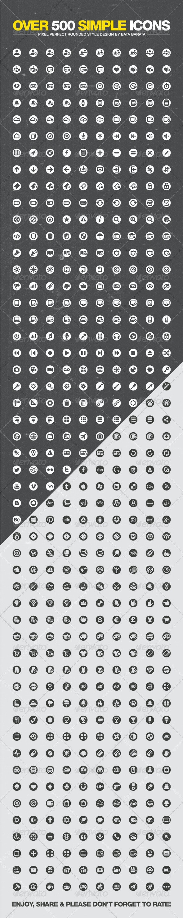 Over 500 Simple Icons - Icons