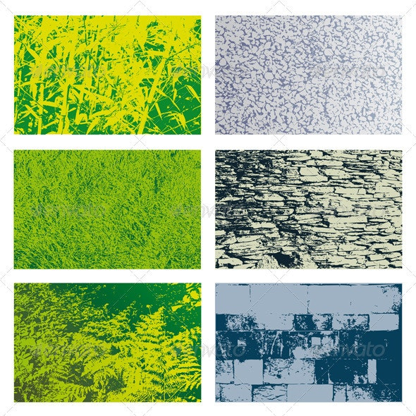 Vegetal and Stone Textures Set - Stone Textures