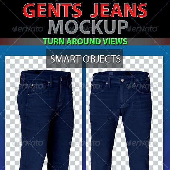Gents Jeans Mockup