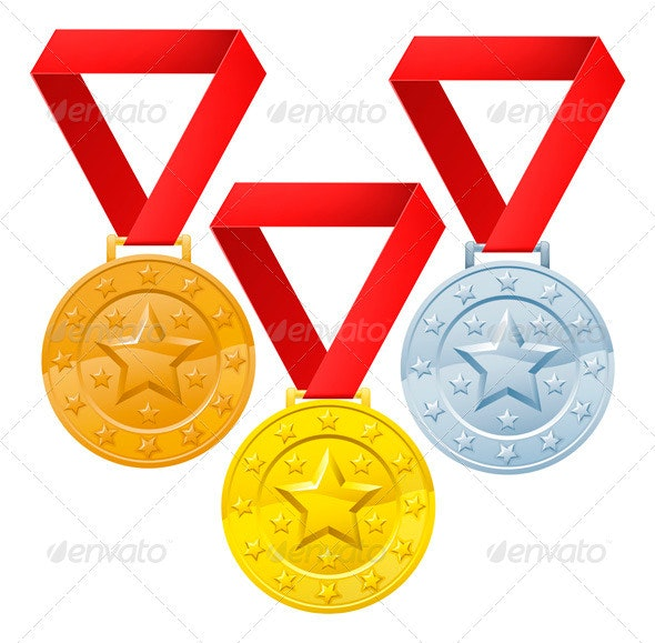 Winners medals - Objects Vectors