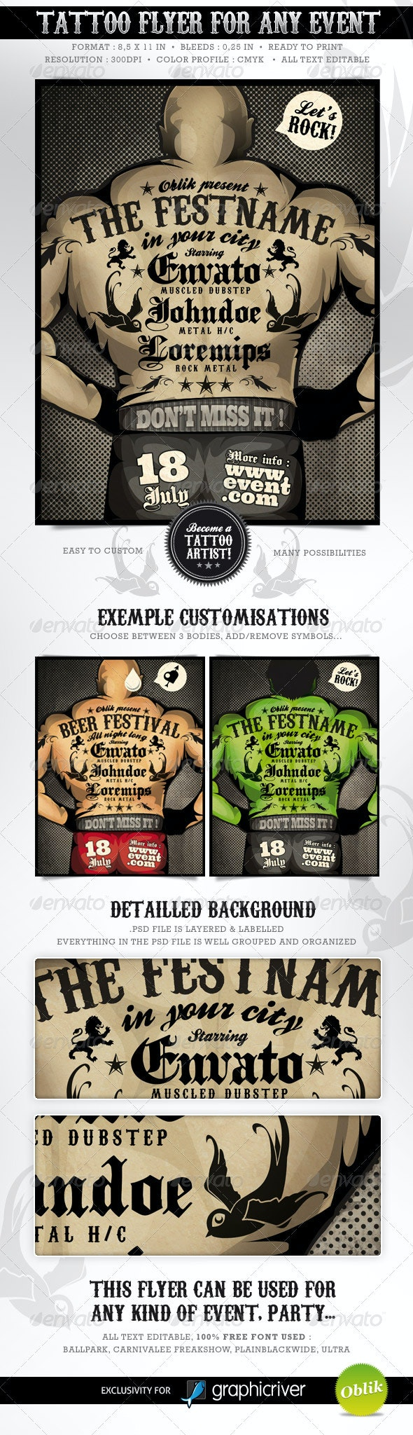 Tattoo Flyer - Become a tattoo artist ! - Miscellaneous Events