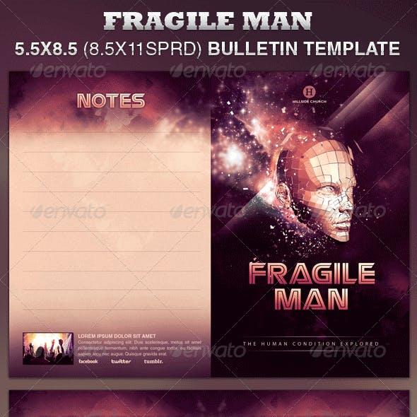Fragile Man Church Bulletin Template