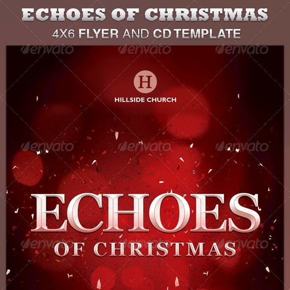 Echoes of Christmas Church Flyer and CD Template