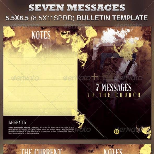 Seven Messages Church Bulletin Template