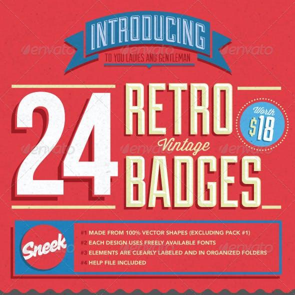 Retro Vintage Badges Bundle