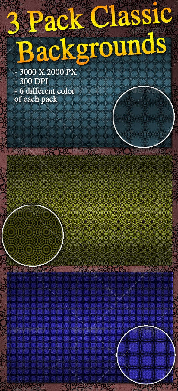 3 Pack Classic Backgrounds - Patterns Backgrounds