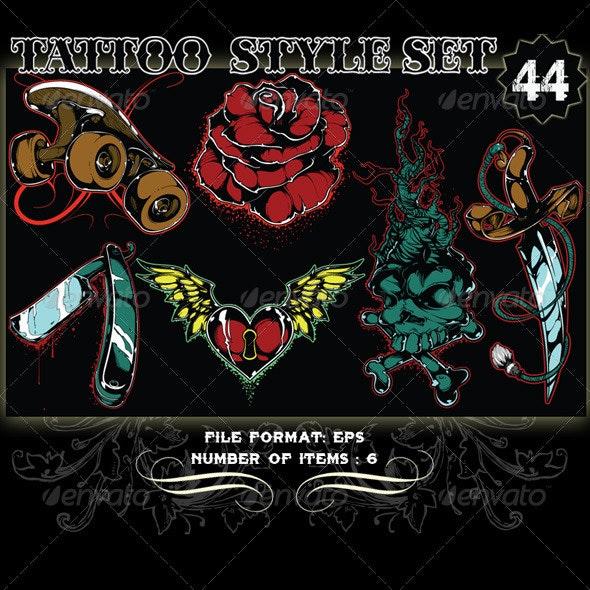 Tattoo Style Vector Set 44