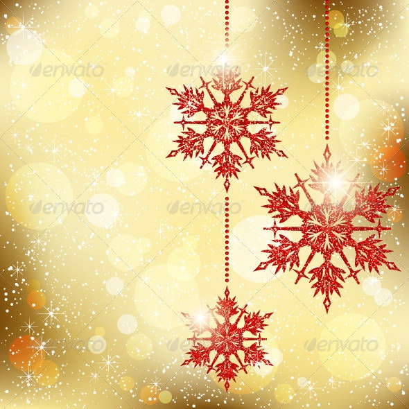 Christmas Snowflakes Greeting Card - Christmas Seasons/Holidays