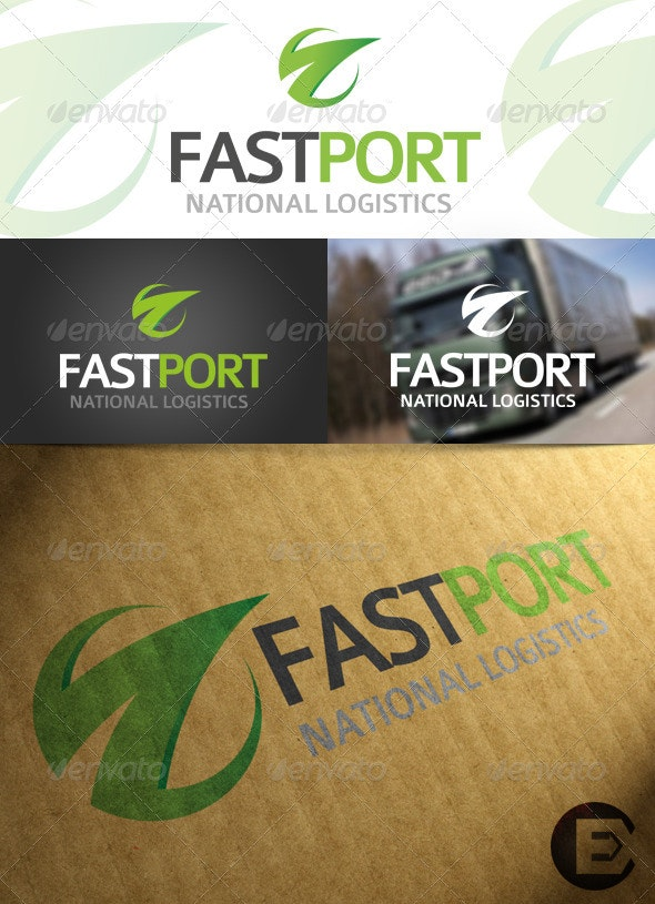 'FastPort' Logo Template - Symbols Logo Templates