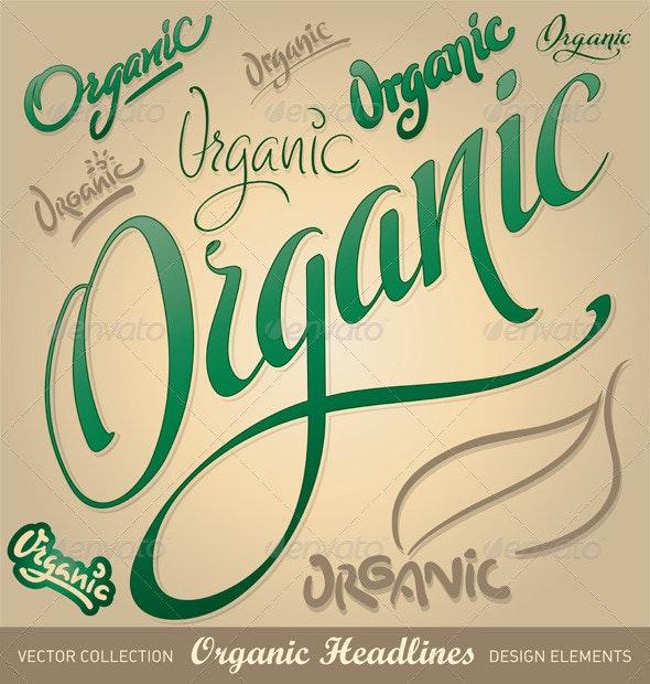 Organic hand lettering set - Decorative Vectors