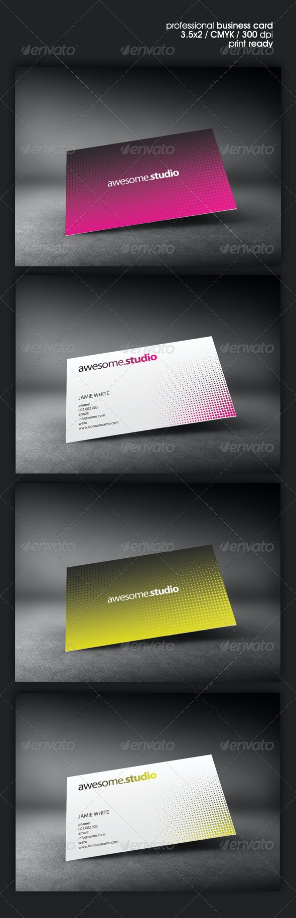 AwesomeStudio Business Cards - Corporate Business Cards