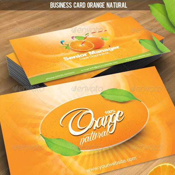 Business Card Orange Natural