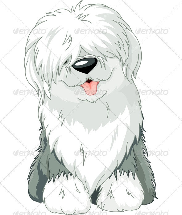 Old English Sheepdog - Animals Characters