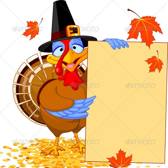 Thanksgiving Turkey with Holiday Note