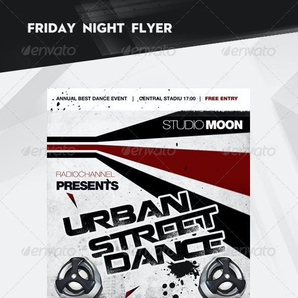 Urban Street Dance Party Flyer / Poster