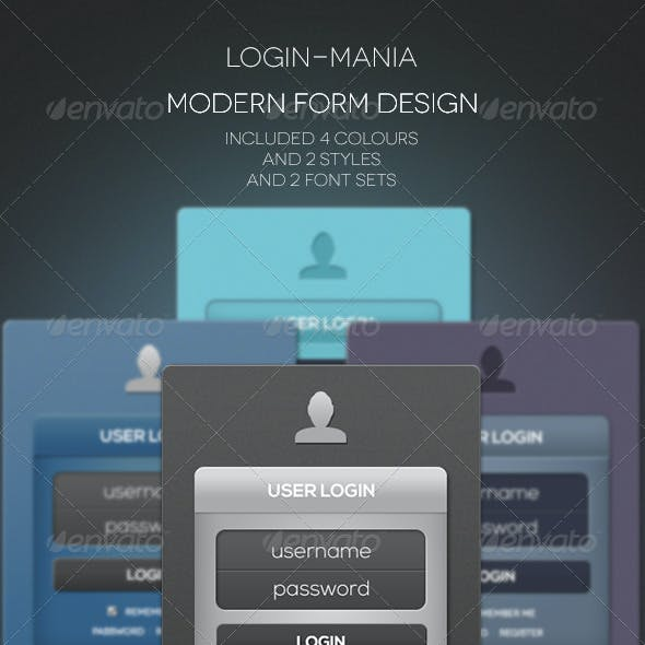 Modern Login & Register Forms