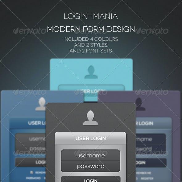 Modern Login & Register Forms